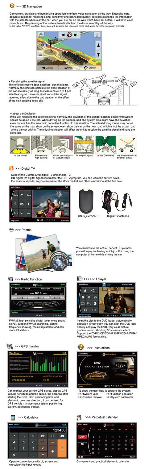 3D Navigation Lecteur CD DVD spécialisé pour 2008 Toyota Highlander intégré multifonction Récepteur multimédia numérique Enregistrement vidéo WiFi 3G Moniteur LCD | Reproductor DVD del coche | Scoop.it