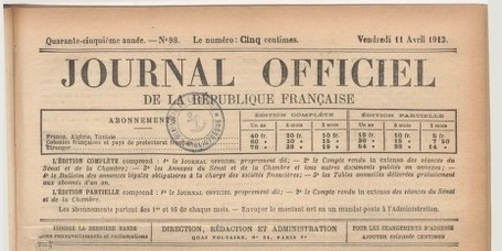 #ChallengeAZ : J comme Journal Officiel | Journal officiel de la République française. Lois et décrets - Gallica | Rhit Genealogie | Scoop.it