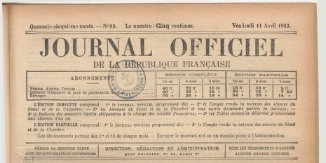 #ChallengeAZ : J comme Journal Officiel | Journal officiel de la République française. Lois et décrets - Gallica | Rhit Genealogie | Scoop.it