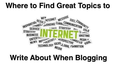 Where to Find Great Topics to Write About When Blogging   Social Media, SEO, Mobile, Digital Marketing   Scoop.it
