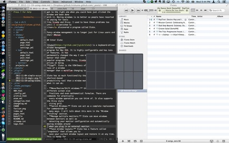 Tristan Hume - Using Slate: A Hacker's Window Manager for Macs | F2E | Scoop.it