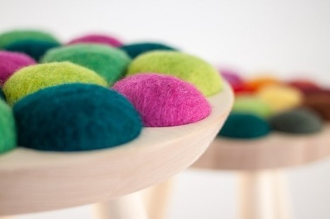 Beautiful Stool from Birch and Felted Wool | news Furniture Design | Scoop.it