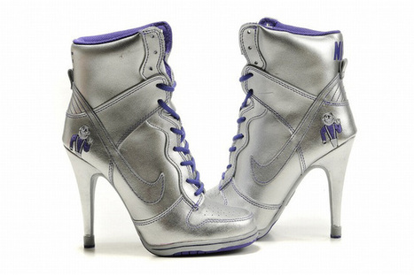 Nike Dunk SB High Heels Silver/Purple | new and share list | Scoop.it