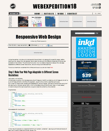 35 Responsive Web Design and Development Tutorials | responsive design II | Scoop.it