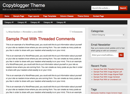 CopyBlogger Child Theme For Genesis | Premium Wordpress Themes | Scoop.it