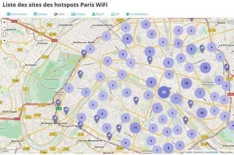 La carte des réseaux Wi-Fi gratuits à Paris | Les Infos de Ballajack | Veille active | Scoop.it