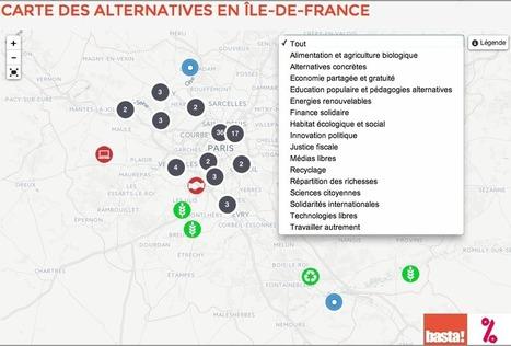 La carte des ALTERNATIVES en Ile-de-France : une centaine d'expérimentations pour changer la société | actions de concertation citoyenne | Scoop.it