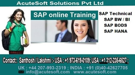 sap bi online training India | Sap Bw Bi Bo Training Centre in   Hyderabad |  Online Sap Bw Bi Bo Training In  USA, UK, Canada, Australia, India. | Scoop.it