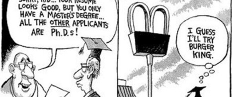 What to do with a master's degree…umm, try Burger King, maybe?   Online Education and its Benefits plus Worth   Scoop.it