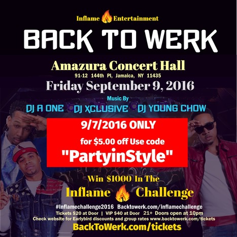 "In celebration of #NYFW Use code ""Partyinstyle"" for $5.00 off @Inflameent #backtoweek2016 for those who need a post labor day #Partyfix. 