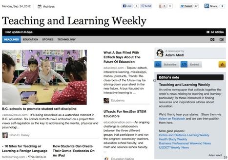 Sept 24 - Teaching and Learning Weekly | Studying Teaching and Learning | Scoop.it