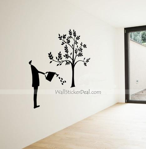 Watering The Tree Of Dream Wall Sticker – WallStickerDeal.com   Tree Wall Stickers   Scoop.it