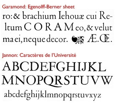 Will the Real Garamond Please Stand Up? | D-M-Design | Scoop.it