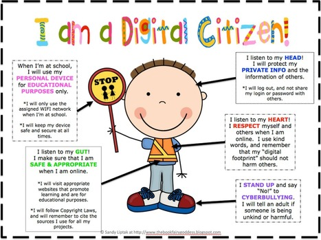 Awesome Digital Citizenship Poster for Young Learners ~ Educational Technology and Mobile Learning | iEduc | Scoop.it