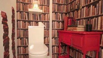 3 revêtements de mur qui rendent les toilettes plus fun | Design de la salle bain | Scoop.it