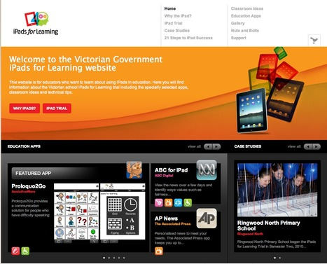 iPads for Education Website-Government of Victoria, Australia | Learning With ICT @ CBC | Scoop.it