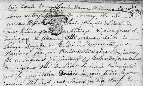 Les baptêmes au 18éme siècle... - Généablogique   GenealoNet   Scoop.it