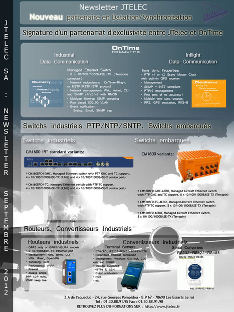 JTelec :: Newsletter Septembre 2012 - OnTime | serveur de temps | Scoop.it