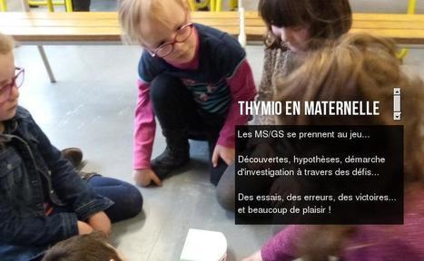 Projet de programmation en maternelle. Thymio en maternelle | L'e-école | Scoop.it