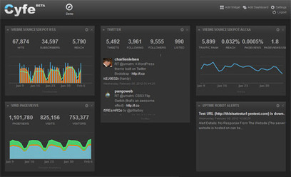 A Dashboard To Visualize Any Data (Analytics, Sales, Social Stats..) – Cyfe   Infotention   Scoop.it
