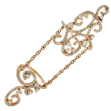 Pave Diamond Designer Chain Ring Gold Jewelry | Gold Jewelry | GemcoDesigns | Pave Diamond Palm Bracelets | Diamond Jewelry | GemcoDesigns | Scoop.it