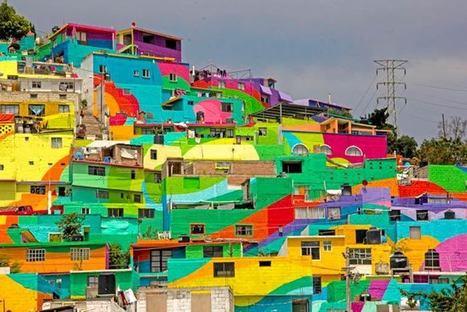 Quand des street-artistes s'occupent de rénover tout un quartier avec l'aide des habitants | Immobilier | Scoop.it
