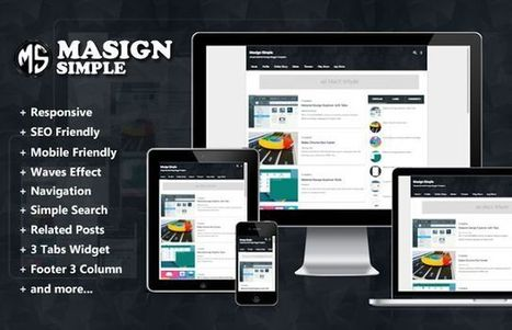 Masign Simple Material Design Responsive Blogger Template | Blogger themes | Scoop.it