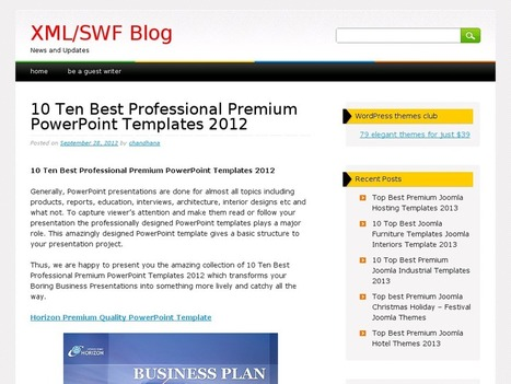 10 Ten Best Professional Premium PowerPoint Templates 2012 | B2B Marketing and PR | Scoop.it