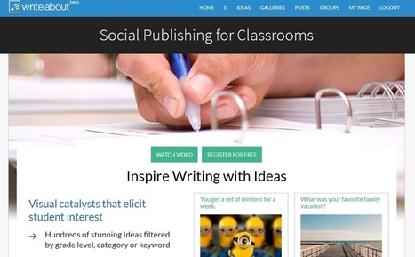 """""""Write About"""" May Be The Education Site Of The Year   English Language Teaching   Scoop.it"""
