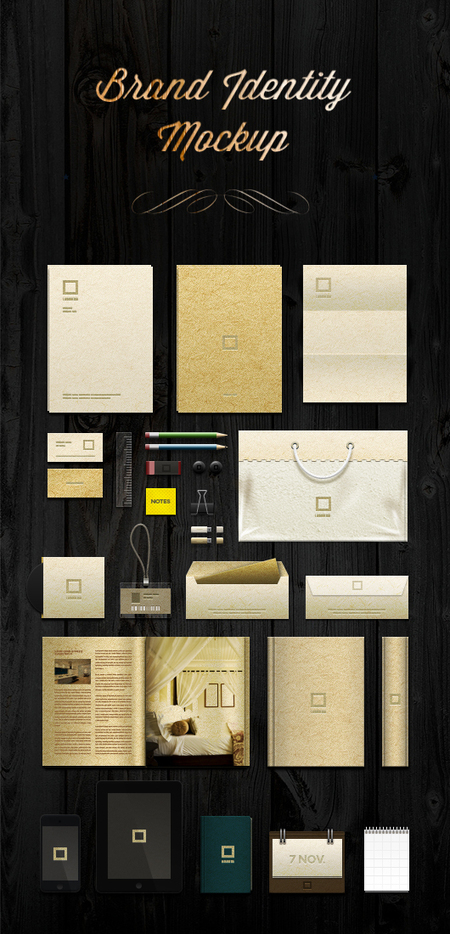 Brand Identity Mock-up Template Psd File | The Official Photoshop Roadmap Journal | Scoop.it