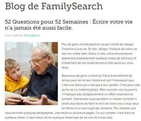 Article du Jour (152) : histoire de votre vie | CGMA Généalogie | Scoop.it