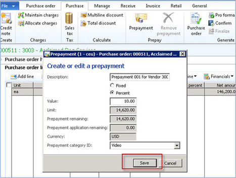 Vendor Prepayment Functionality in Microsoft Dynamics AX 2012 | AX 2012 | Scoop.it