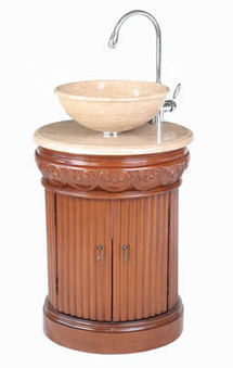 Small 23 inch Single Sink Vanity With Travertine Marble Top (Edwina), #BRVA_ST_GM_2211_23   Kitchen Online: Double Bowl Copper Kitchen Sinks  Copper Kitchen Sinks  Copper Kitchen Sink Texas   Scoop.it