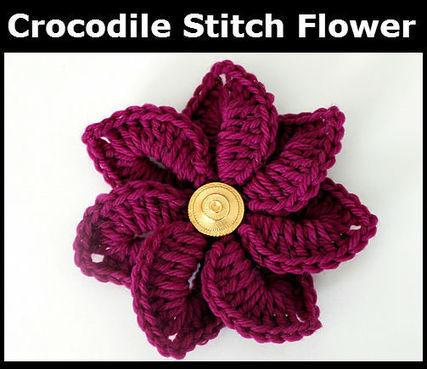 Free Crocodile Stitch Flower Pattern | Bonita Patterns Blog | CROCHET | Scoop.it