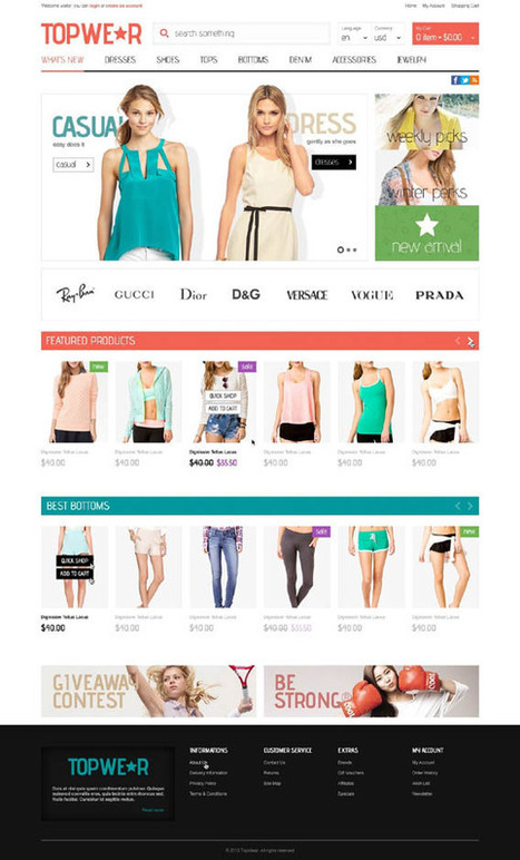 TopWear, OpenCart Fashion Apparel Clothings Bags Theme | Premium Download | Premium Opencart Themes | Scoop.it