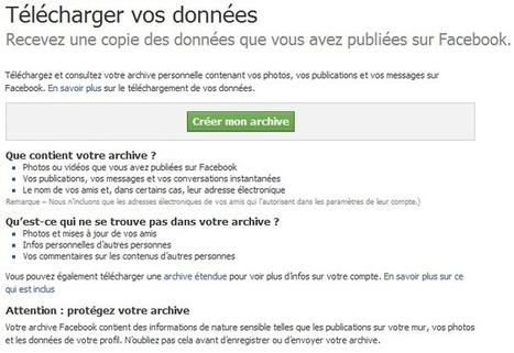 Télécharger la totalité du contenu de votre compte Facebook   Mistipi   Je, tu, il... nous !   Scoop.it