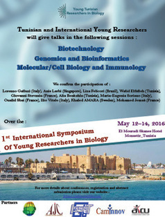 1st International Symposium for Young Researchers in Biology-Monastir, May 2016 | Institut Pasteur de Tunis-معهد باستور تونس | Scoop.it