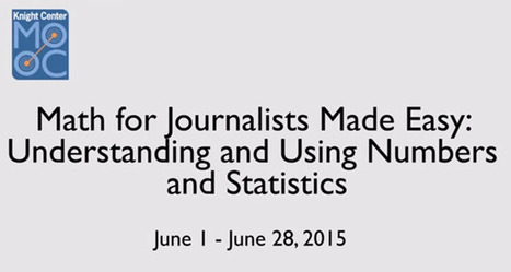 Matemáticas para periodistas, nuevo curso online y gratuito del Centro Knight | Educacion, ecologia y TIC | Scoop.it