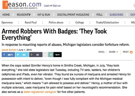 Forfeiture: Armed Robbers With Badges - 'They Took Everything' | Drugs, Society, Human Rights & Justice | Scoop.it