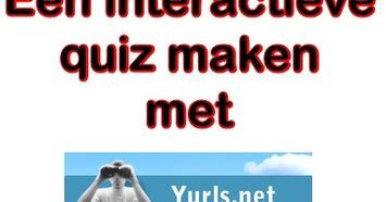 Edu-Curator: Hoe maak je een interactieve quiz voor jouw groep met 'Yurls'? | Edu-Curator | Scoop.it