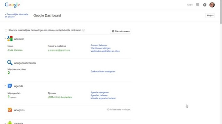 Edu-Curator: Op Google Dashboard beheer je al jouw Google-diensten | Educatief Internet - Gespot op 't Web | Scoop.it