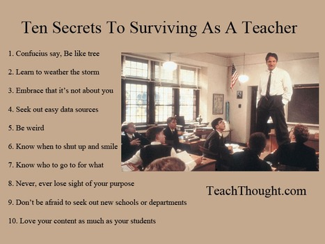 Ten Secrets To Surviving As A Teacher   Improving Your Teaching Practice   Scoop.it