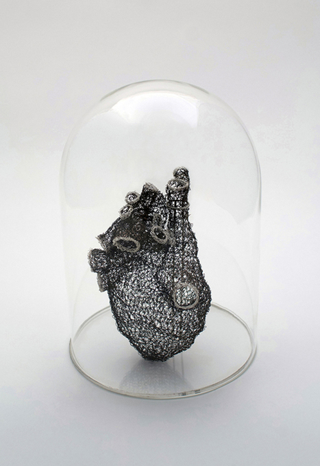 Artist Meticulously Crochets Wire to Create Anatomically Correct Heart | Le It e Amo ✪ | Scoop.it