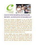 Cloud nine hospital Bangalore review: Assistance available 24/7   Cloud nine Hospital   Scoop.it