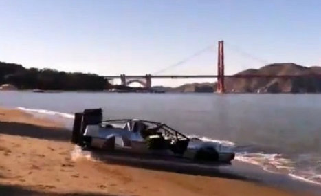 DeLorean Hovercraft Cruising By Golden Gate Bridge | Geekologie | Cars and Road Safety | Scoop.it