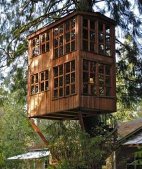 Initiales GG, une fille mais pas que...: Une cabane luxueuse dans les arbres... | Déco Design | Scoop.it