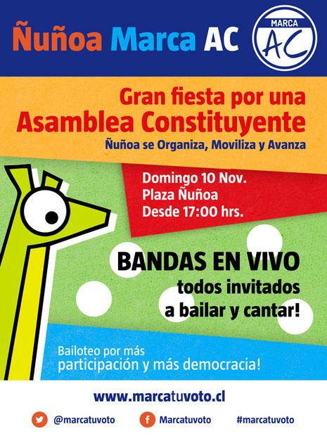 Fiesta Constituyente en Ñuñoa   Marca Tu Voto   geometrias barrocas   Scoop.it