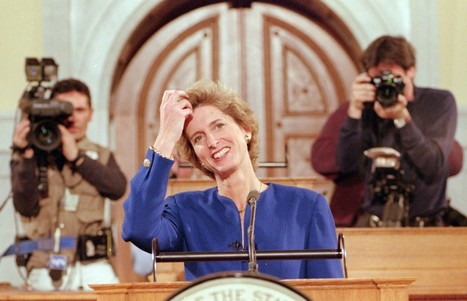 """Pro-choice Christine Todd Whitman (R-N.J.) recalls her 1995 GOP State of the Union response: The GOP """"would never consider me"""" today. 