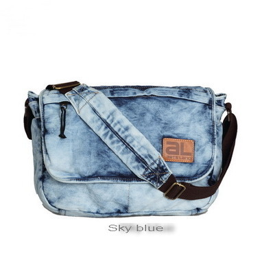 Distressed fading denim messenger bags from Vintage rugged canvas bags | Best mens style outlet | Scoop.it