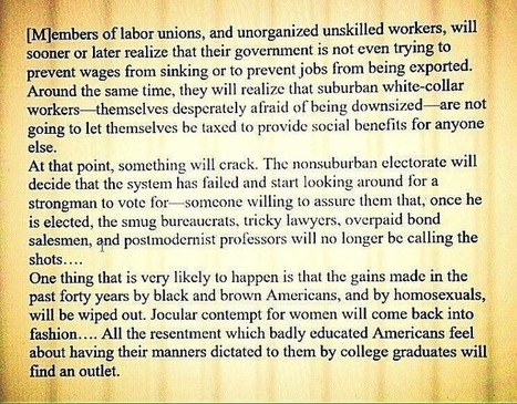 This Moment: Richard Rorty Called It | :: The 4th Era :: | Scoop.it